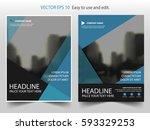 blue vector annual report... | Shutterstock .eps vector #593329253