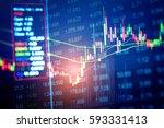 market cost economy analysis... | Shutterstock . vector #593331413
