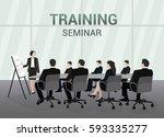 seminar training report lecture ... | Shutterstock .eps vector #593335277