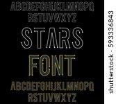 star font | Shutterstock .eps vector #593336843