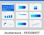 flat vector  set infographics... | Shutterstock .eps vector #593338457