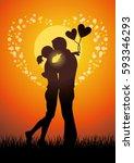 silhouette vector illustration... | Shutterstock .eps vector #593346293