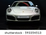 Small photo of NONTHABURI, THAILAND - MARCH 22: The Porsche 911 Carrera is on display at the 37th Bangkok International Motor Show 2016 on March 22, 2016 in Nonthaburi, Thailand.