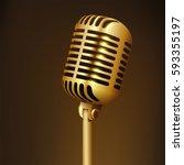 vintage golden studio... | Shutterstock . vector #593355197