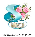 8 march women day greeting card....   Shutterstock .eps vector #593355557