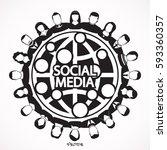 social network vector logo... | Shutterstock .eps vector #593360357