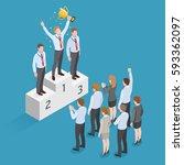 business people isometric... | Shutterstock .eps vector #593362097