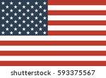 american flag | Shutterstock .eps vector #593375567