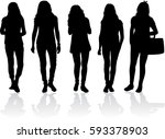 silhouette of a woman. | Shutterstock .eps vector #593378903