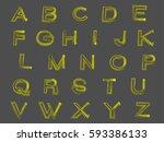 alphabet | Shutterstock .eps vector #593386133