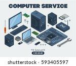 computer service template....   Shutterstock .eps vector #593405597