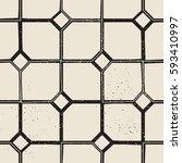vintage castle geometric... | Shutterstock .eps vector #593410997