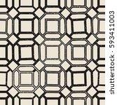 vintage castle geometric... | Shutterstock .eps vector #593411003
