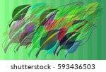 leaf template vector   Shutterstock .eps vector #593436503