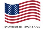 waving flag of the united... | Shutterstock .eps vector #593457737