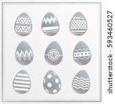 happy easter design elements.... | Shutterstock .eps vector #593460527