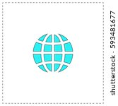 earth outline vector icon with...