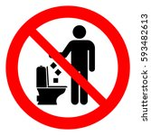 do not litter in toilet  keep... | Shutterstock .eps vector #593482613