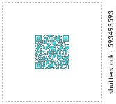 qr code outline vector icon...
