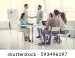 business people at the... | Shutterstock . vector #593496197