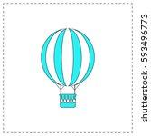 air balloon outline vector icon ...