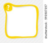 yellow frame for your text and... | Shutterstock .eps vector #593507357