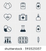 illustration of 12 medical... | Shutterstock . vector #593525357