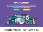 management concept for web page.... | Shutterstock .eps vector #593525543