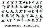 summer sports set on white. all ... | Shutterstock . vector #593530343