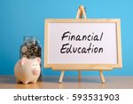 financial education   financial ... | Shutterstock . vector #593531903
