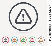 warning icon. attention... | Shutterstock .eps vector #593532017