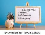 savings plan  financial concept.