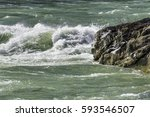 Wild And Choppy River Current...