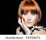 beauty portrait of pretty woman ... | Shutterstock . vector #59354671