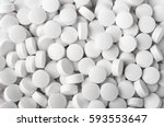 white pills close up | Shutterstock . vector #593553647