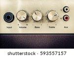 Close Up Detail Of Sound Volum...