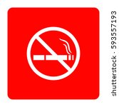 no smoking sign. | Shutterstock .eps vector #593557193
