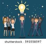 ideas for better. leader of... | Shutterstock .eps vector #593558597