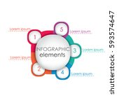 colorful infographic elements... | Shutterstock .eps vector #593574647