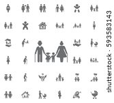 family icon on white background.... | Shutterstock .eps vector #593583143