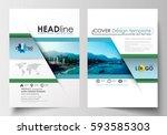 business templates for brochure ... | Shutterstock .eps vector #593585303