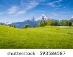 beautiful view of idyllic... | Shutterstock . vector #593586587