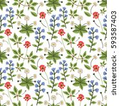 seamless pattern with... | Shutterstock .eps vector #593587403