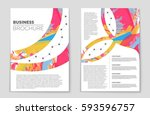abstract vector layout... | Shutterstock .eps vector #593596757