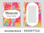 abstract vector layout... | Shutterstock .eps vector #593597723