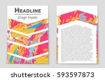 abstract vector layout... | Shutterstock .eps vector #593597873