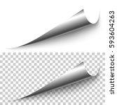 vector realistic silver foil... | Shutterstock .eps vector #593604263
