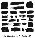 hand drawn banners. grunge... | Shutterstock .eps vector #593604317
