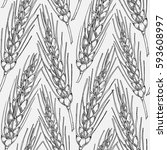 vector seamless pattern with... | Shutterstock .eps vector #593608997