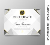 certificate premium template... | Shutterstock .eps vector #593620847